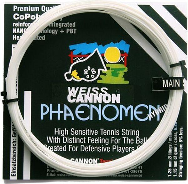 Tennis String Weiss Cannon Phaenomen Hybrid (6,8 m/6,8 m)