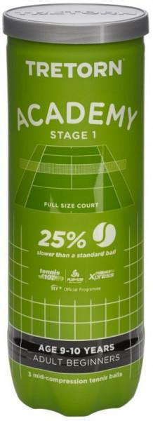 Juniorskie piłki tenisowe Tretorn Academy Green 3B