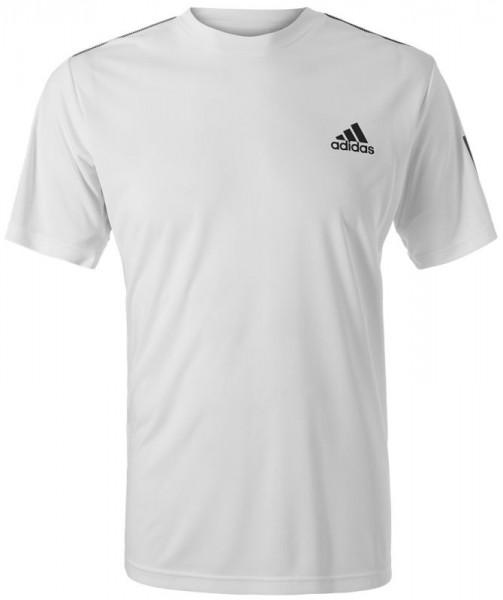 Męski T Shirt Adidas Club 3 Stripes Tee whiteblack