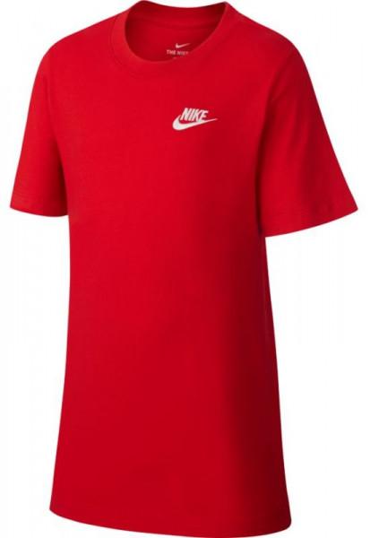 Poiste maika Nike NSW Tee Embedded Futura B - university red/white