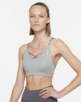 Topp Nike New York Indy Strappy Bra W - particle grey/pure/platinum