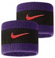 Znojnik za ruku Nike Swoosh Wristbands - black/court purple/chile red