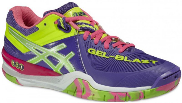 Buty do squasha Asics Gel-Blast 6 - purple/neon green/flash yellow