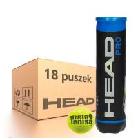 Tenisa bumbiņas kartona kastēs Head Pro (Strefa Tenisa logo) - 18 x 4B