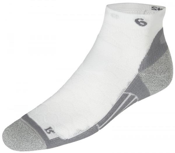 Socks Asics Road Quarter - 1 para/real white