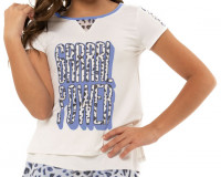T-krekls meitenēm Lucky in Love On The Prowl Grrrl Power Tee Girls - white