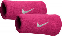 Nike Swoosh Double-Wide Wristbands - vivid pink/white