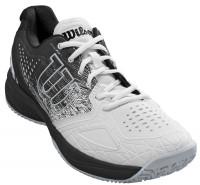 Vīriešiem tenisa apavi Wilson Kaos Comp 2.0 - white/black/pearl blue