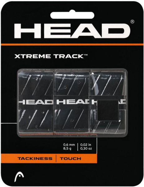 Tenisa overgripu Head Xtremetrack black 3P