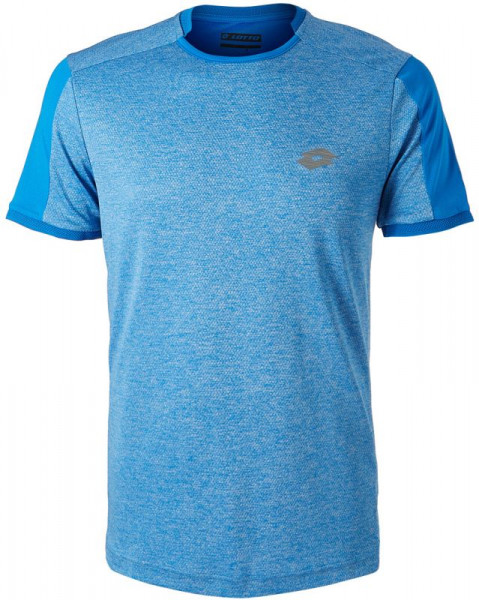 Męski T-Shirt Lotto Dragon Tech II Tee - blue melange/blue