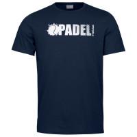 Muška majica Head Padel Font T-Shirt M - dark blue