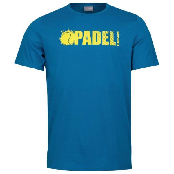 Teniso marškinėliai vyrams Head Padel Font T-Shirt M - blue