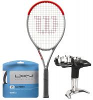 Tenisa rakete Wilson Clash 100L Silver + stīgas + stīgošanas pakalpojums