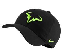 Czapka tenisowa Nike Rafa U Aerobill H86 Cap - black/volt