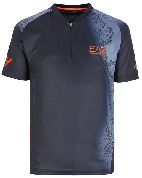 Meeste tennisepolo EA7 Man Jersey Jumper - fancy blue