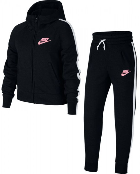 Nike Girls NSW Track Suit PE - black/black/white/pink