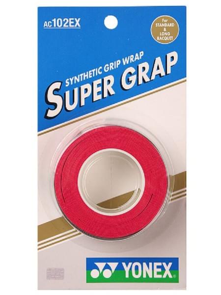 Tenisa overgripu Yonex Super Grap 3P - red