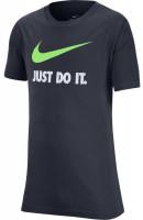 Koszulka chłopięca Nike B NSW Tee Just Do It Swoosh - thunder blue