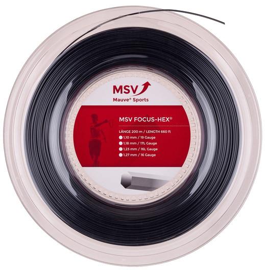 Tennis String MSV Focus Hex (200 m) - black