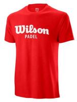 Męski T-Shirt Wilson M Padel Script Cotton Tee - wilson red