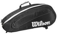 Torba tenisowa Wilson Fed Team 6 Pk Bag - black/white