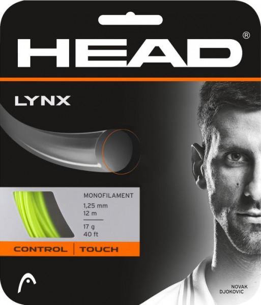 Teniso stygos Head LYNX 1,30 mm (12 m) - yellow (Rekomenduojame)