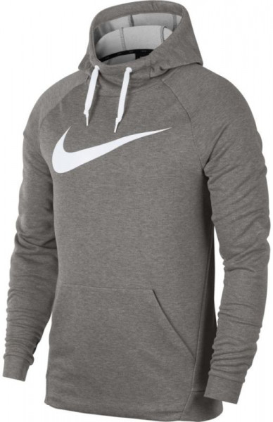 Męska bluza tenisowa Nike Dry Swoosh Hoodie - dark grey heather/white