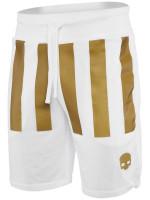 Męskie spodenki tenisowe Hydrogen US Open Stripes Shorts - white/gold