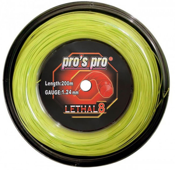 Tenisa stīgas Pro's Pro Lethal 8 (200 m) - lime