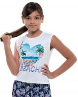 Majica kratkih rukava za djevojčice Lucky in Love Novelty Print Aloha Tank Girls - multi