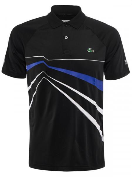 0d5814a36d8220 Polo T-shirt Lacoste Novak Djokovic Collection Stretch Polo - black/white /blue