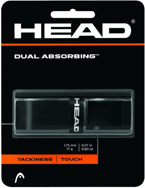 Owijki tenisowe bazowe Head Dual Absorbing (1 szt.) - black