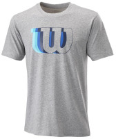 Męski T-Shirt Wilson M Blur Tech Tee - heather grey