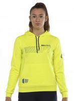 Ženski sportski pulover Bullpadel Yopal Sweatshirt Woman - amarillo azufre fluor