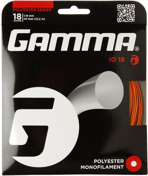 Tenisa stīgas Gamma iO (12.2 m) - orange