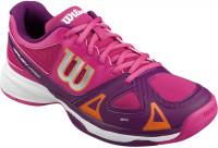 Juniorskie buty tenisowe Wilson Rush Pro Junior - fiesta pink/dark plumberry/clementine