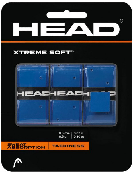 Viršutinės koto apvijos Head Xtremesoft (3 vnt.) - blue