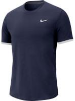 Męski T-Shirt Nike Court Top SS  - obsidian/white/white