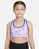 Tüdrukute rinnahoidja Nike Dri-Fit Swoosh Rev Bra G - lapis/black/white