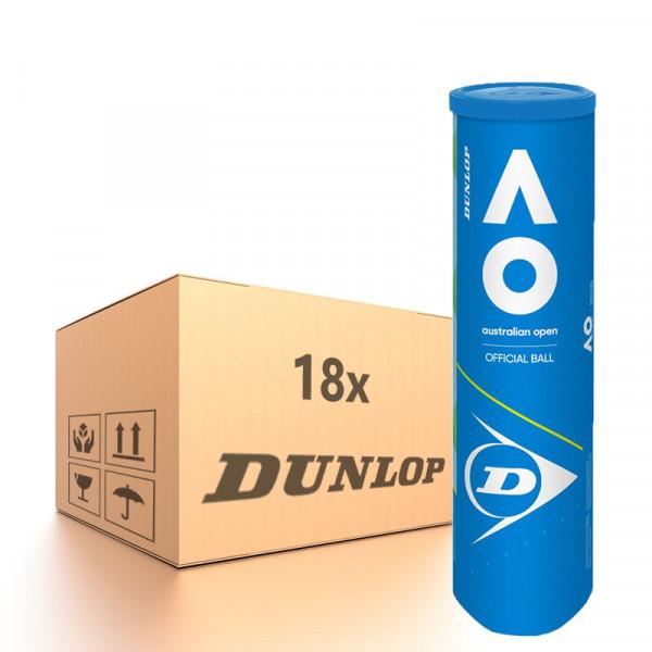 Teniso kamuoliukų dėžė Dunlop Australian Open Special Offer - 18 x 4B