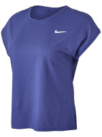 Marškinėliai moterims Nike Court Dri-Fit Victory Top SS W - dark purple dust/white