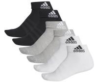Skarpety tenisowe Adidas Cush ANK 6PP - black/grey/white