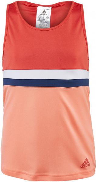 Marškinėliai mergaitėms Adidas Club Tank - trace scarlet