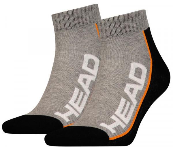 Čarape za tenis Head Performance Quarter 2P - grey/black