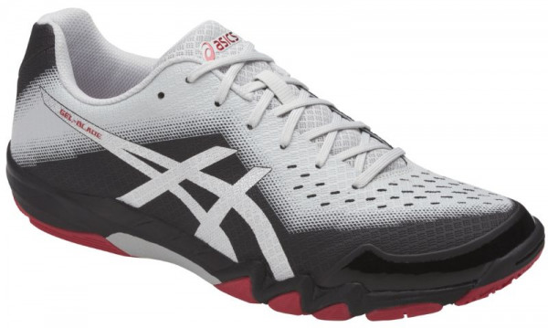 Squash shoes Asics Gel-Blade 6 - black/silver/glacier grey