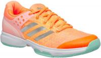 Damskie buty tenisowe Adidas Adizero Ubersonic 2 W - glow orange/silver metallic/samba blue
