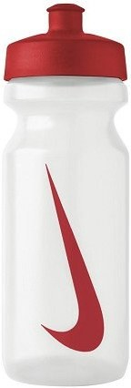 Bidon Nike Big Mouth Water Bottle 0,65L - clear/sport red/sport red