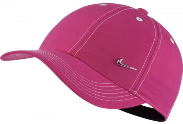 Nike Heritage 86 Metal Swoosh YTH - vivid pink/white/metallic silver