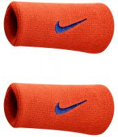 Nike Swoosh Double-Wide Wristbands - team orange/college navy