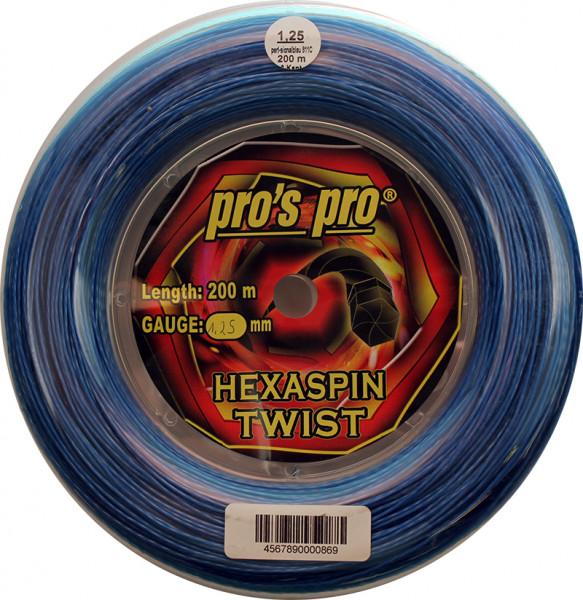 Tenisa stīgas Pro's Pro Hexaspin Twist (200 m) - blue